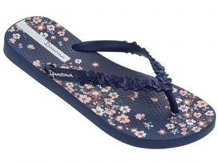 Ipanema Womens Fashion Floral Navy Flip Flops